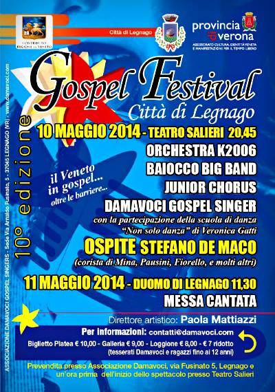 Damavoci Gospel festival legnago 2014